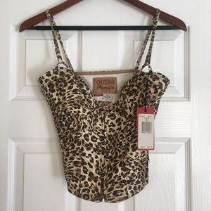 Guess Denim Leopard Bustier 🐆
